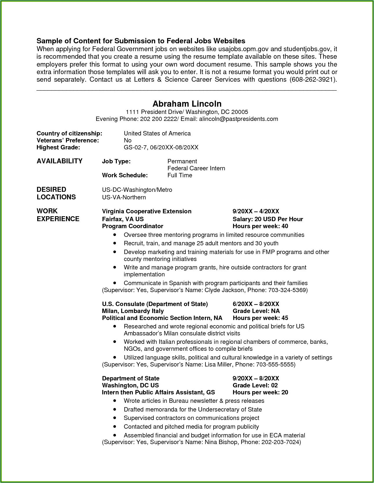 Veterans Affairs Resume Builder