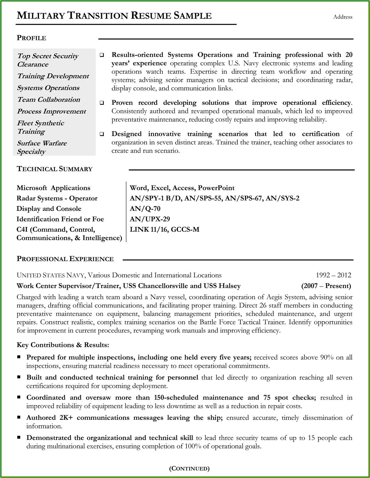 Vets.gov Resume Builder