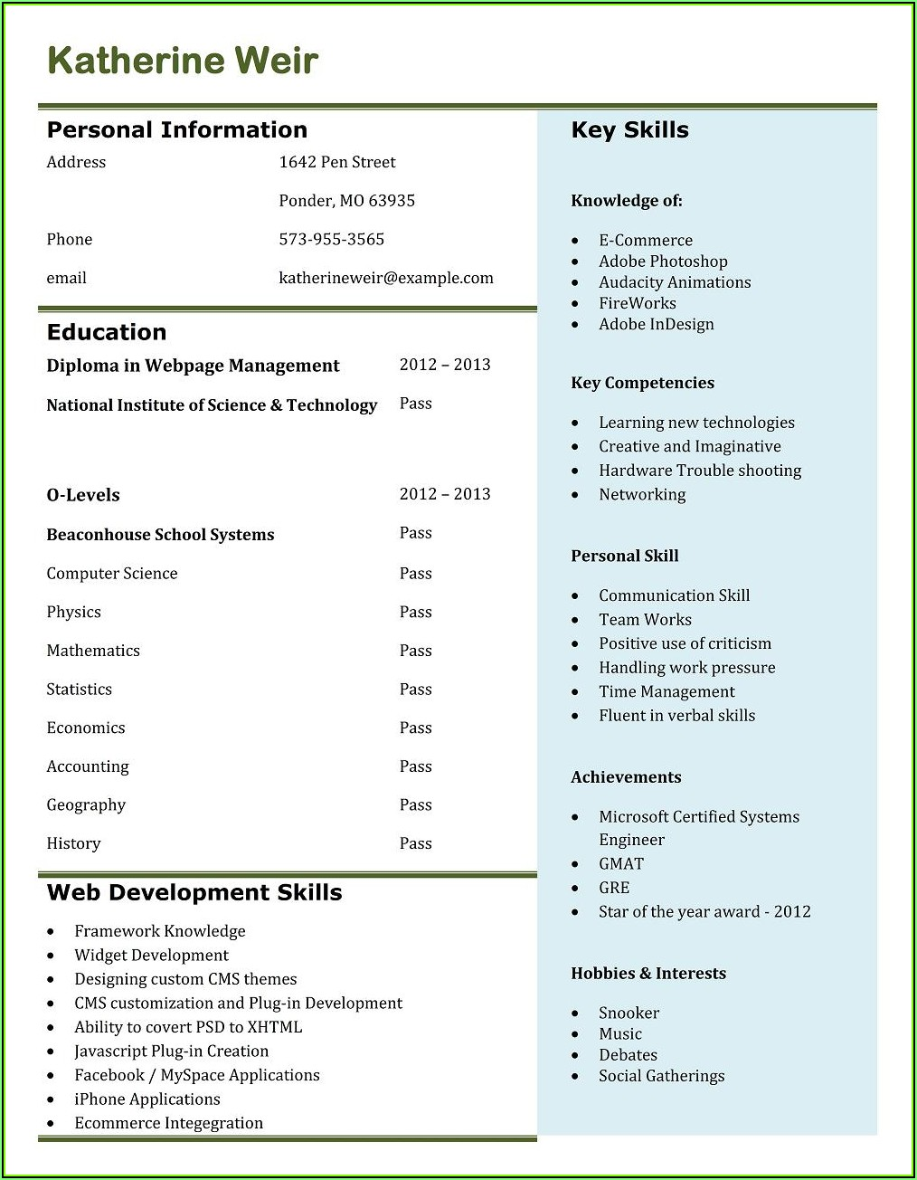 Where Can I Make A Resume For Free