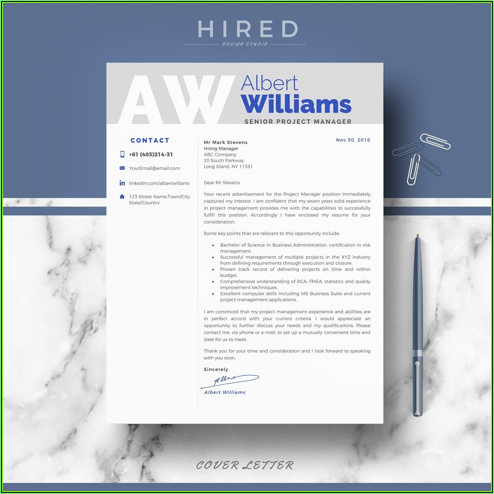 Word Templates For Professional Resume