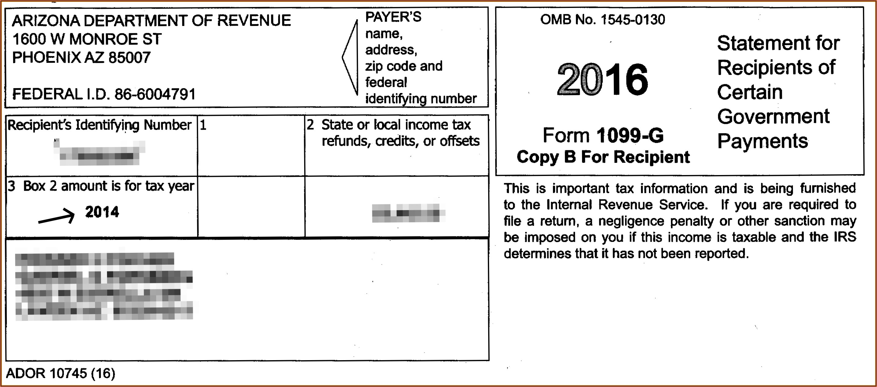 1099 Form Tax Refund