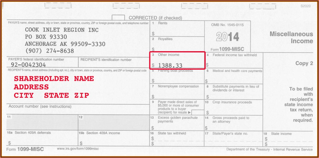 2011 Form 1099 Misc Fillable
