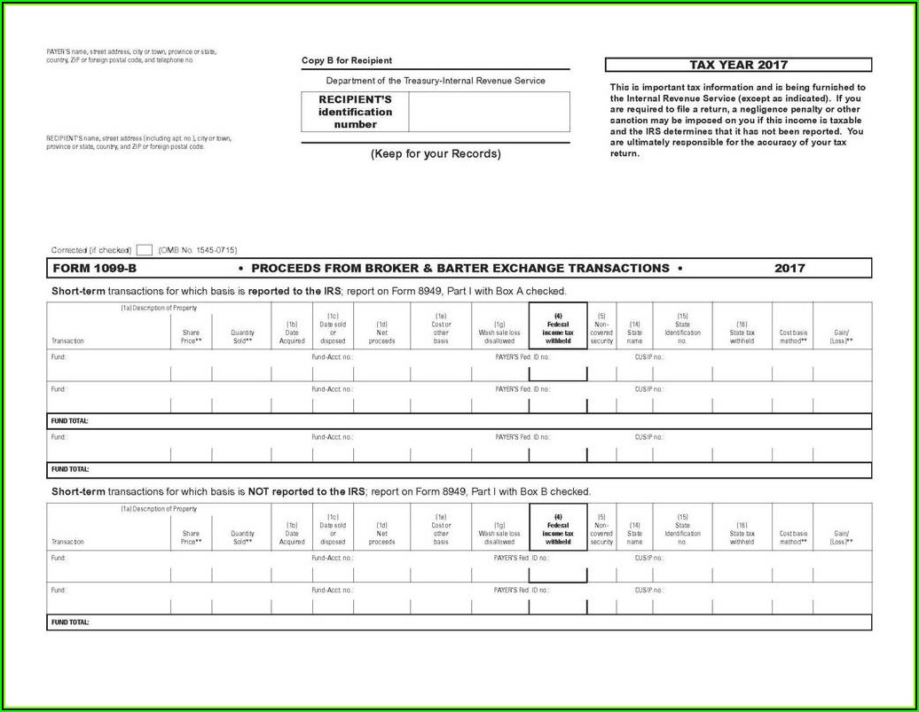 2017 Form 1099 Template