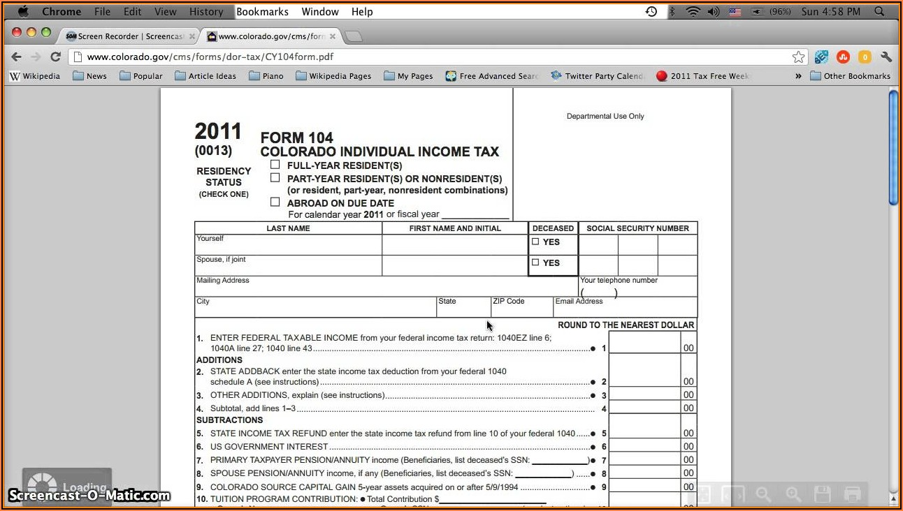 2017 Income Tax Printable Forms