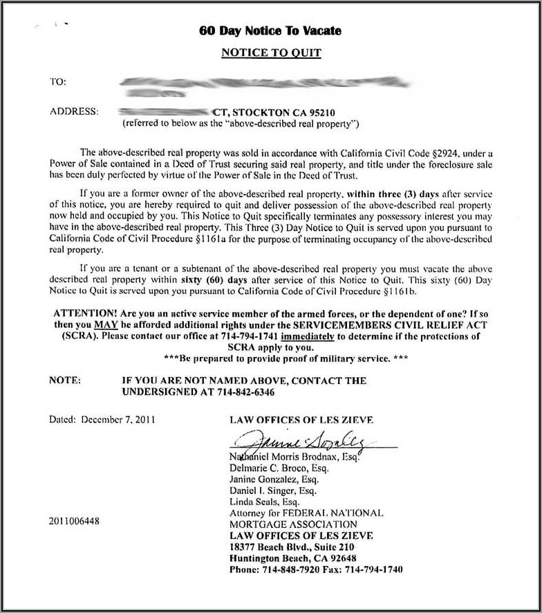 30 Day Eviction Notice Template Utah