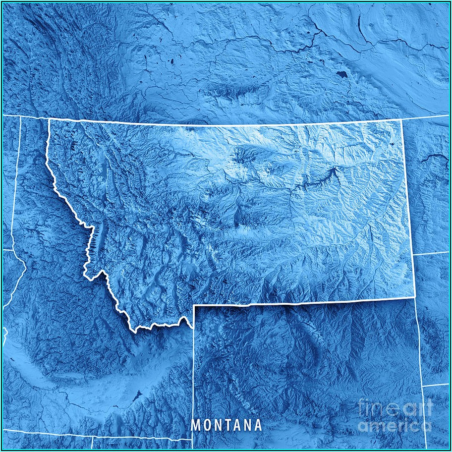3d Topographic Map Montana