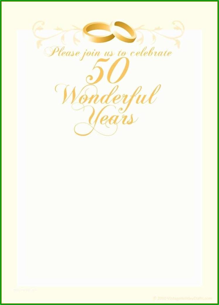 50th Wedding Anniversary Program Templates