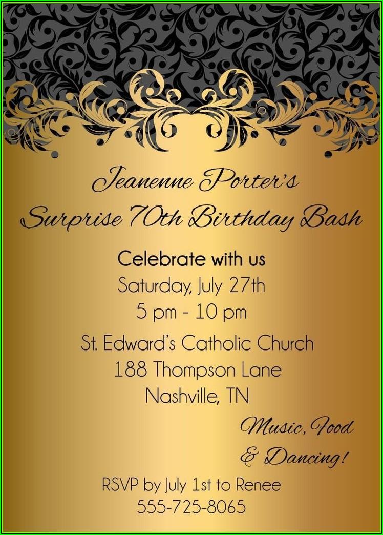 75th Birthday Invitation Templates Free