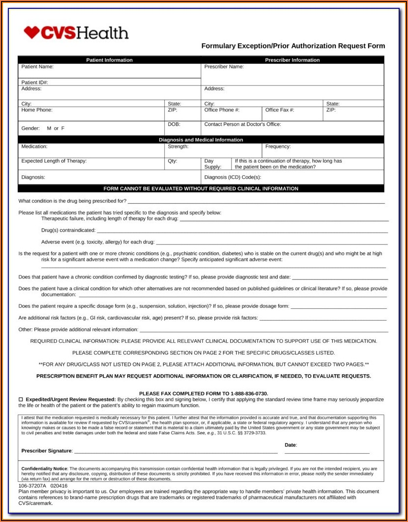 Aarp Pharmacy Prior Authorization Form