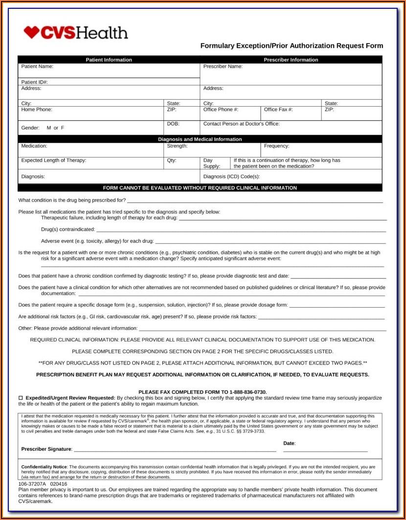 Aarp Pharmacy Prior Authorization Form