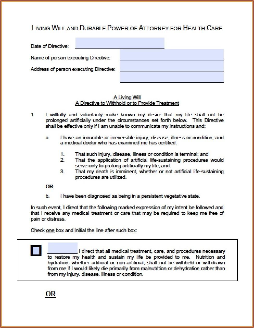 Advance Directives Forms Idaho