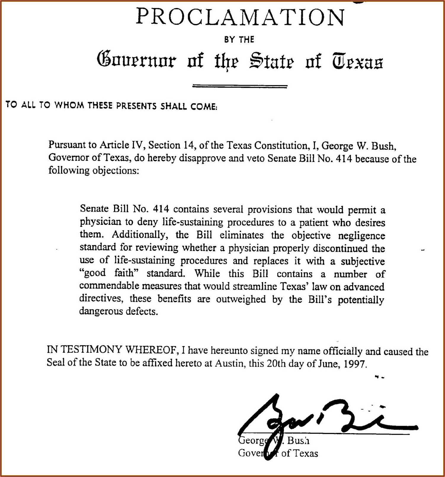 Advance Directives State Of Texas