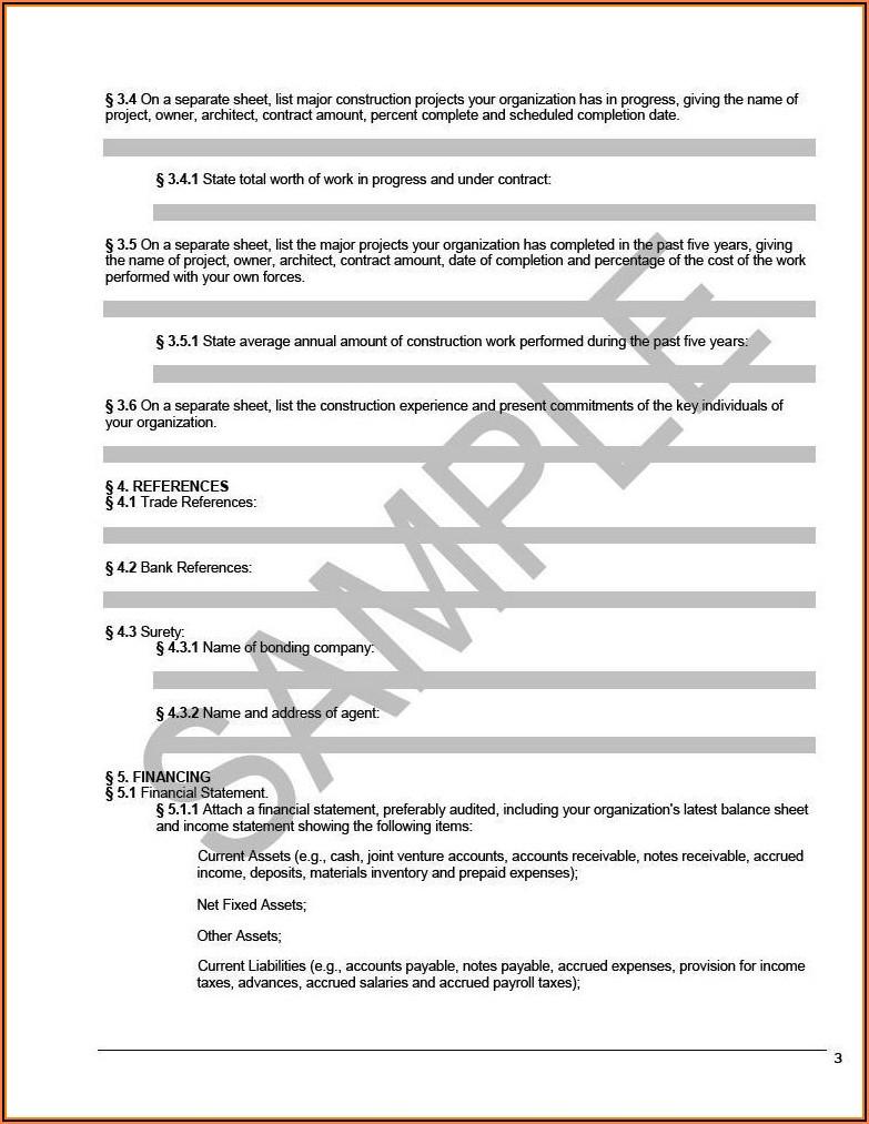 Aia Form A305 Sample