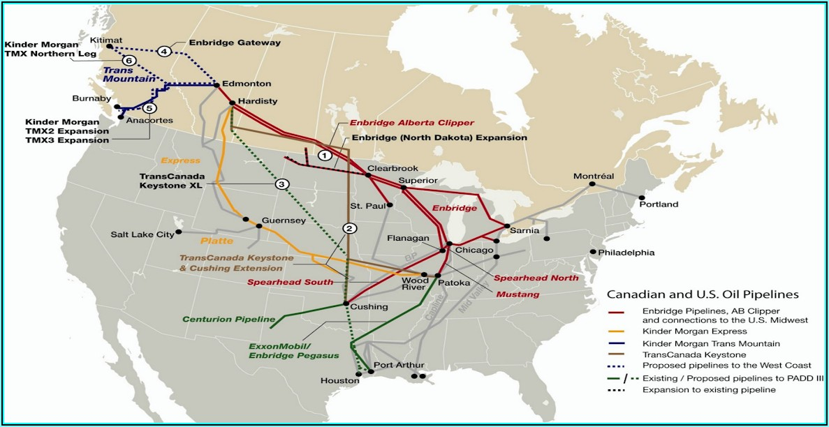 Alberta Oil Sands Pipeline Map