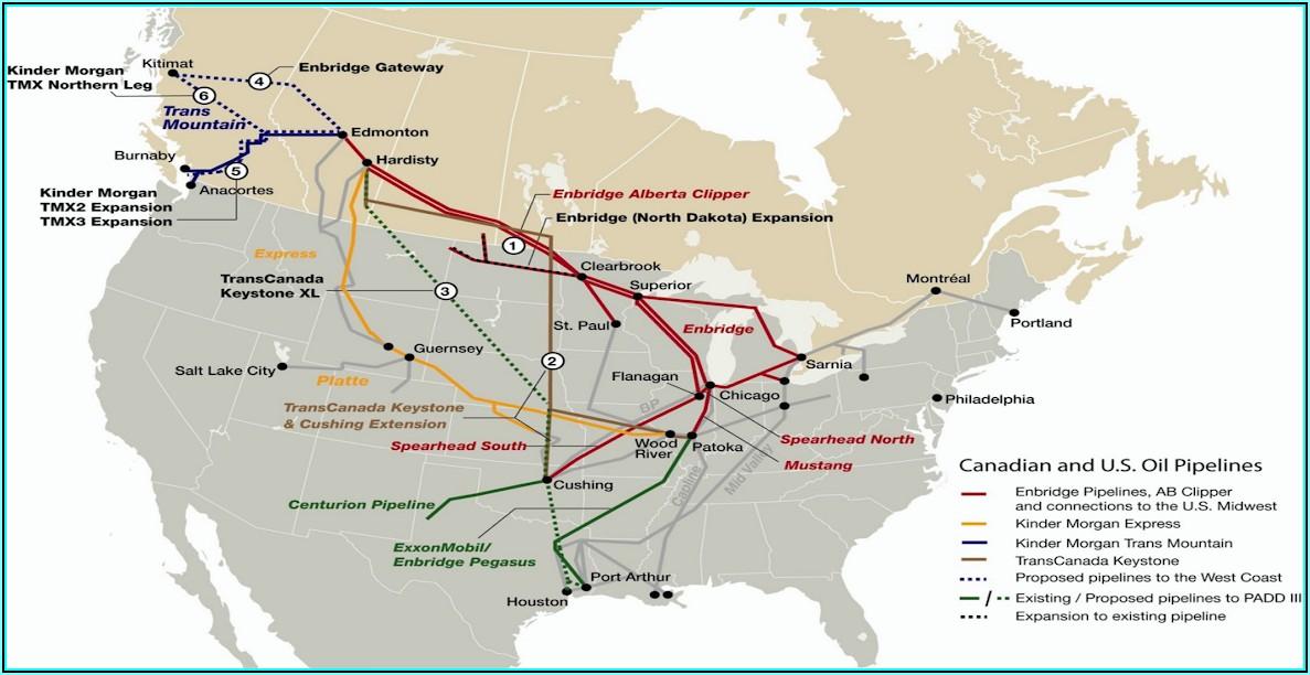 Alberta Oil Sands Pipeline Map