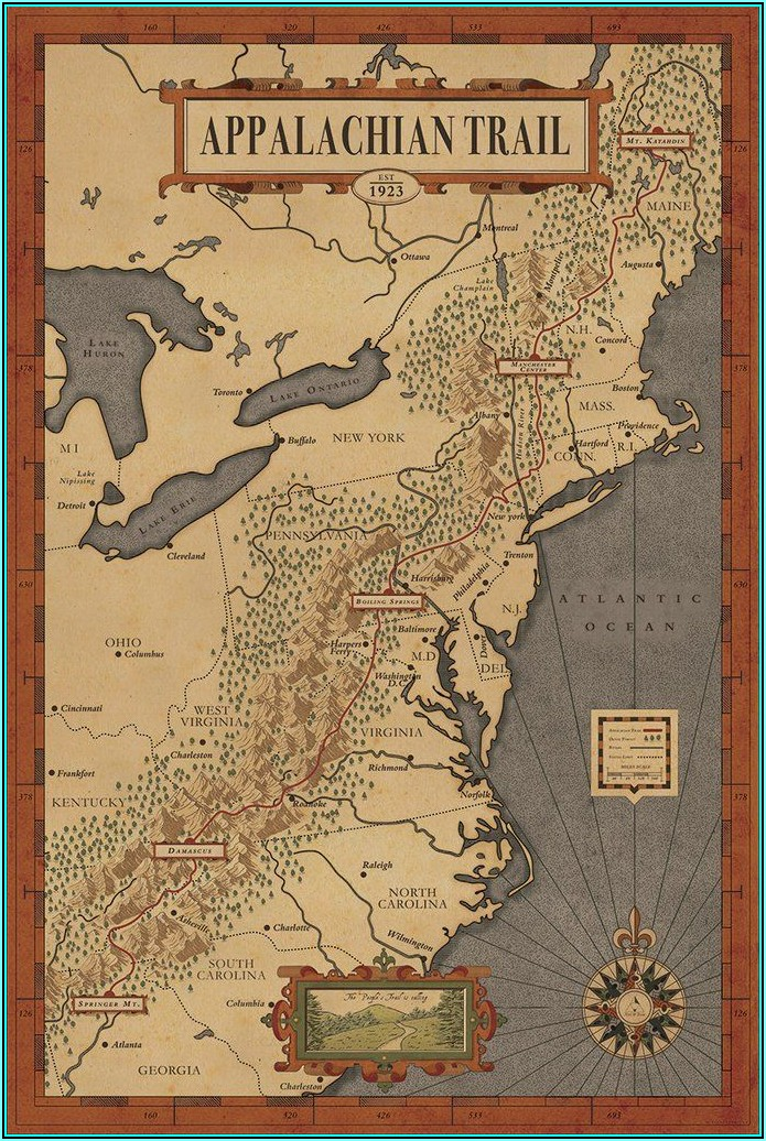 Appalachian Trail Hiking Maps