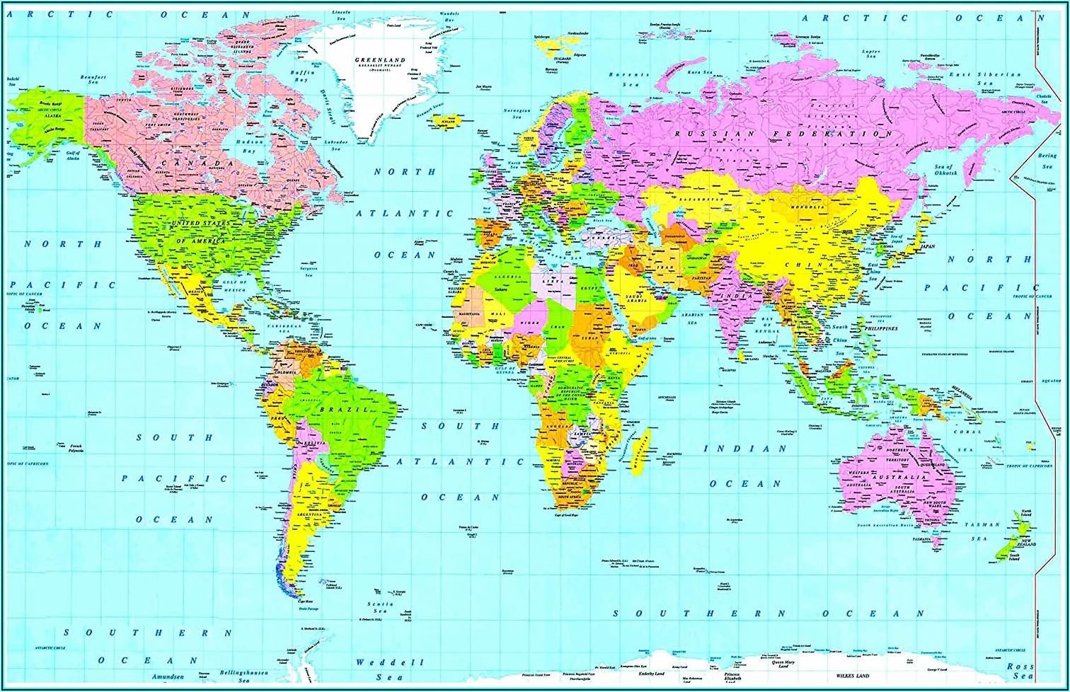 Atlas World Map Book Price