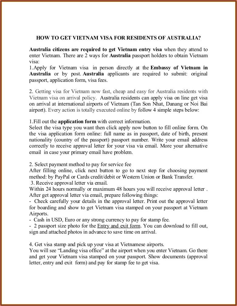 Australian Tourist Visa Application Form Online