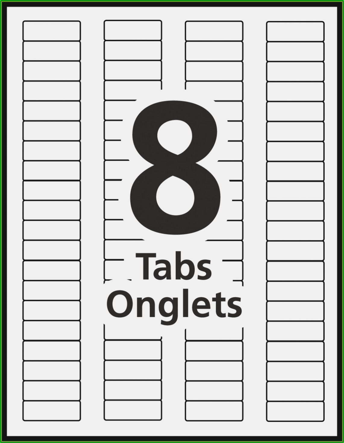 Avery 5 Tab Clear Label Template