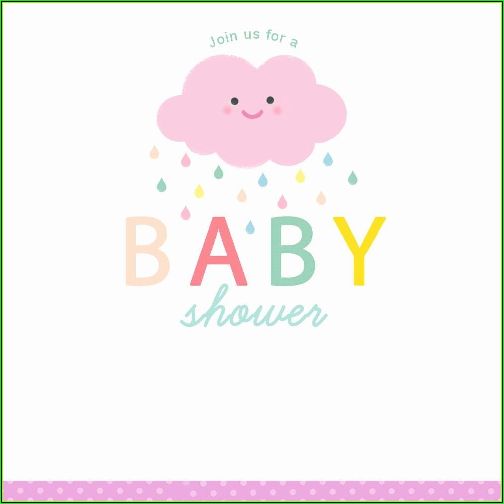 Baby Sprinkle Invitations Templates Editable