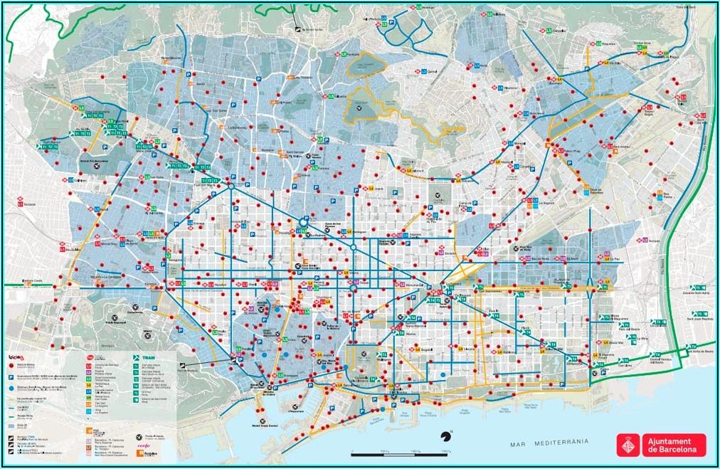 Barcelona Hop On Hop Off Route Map