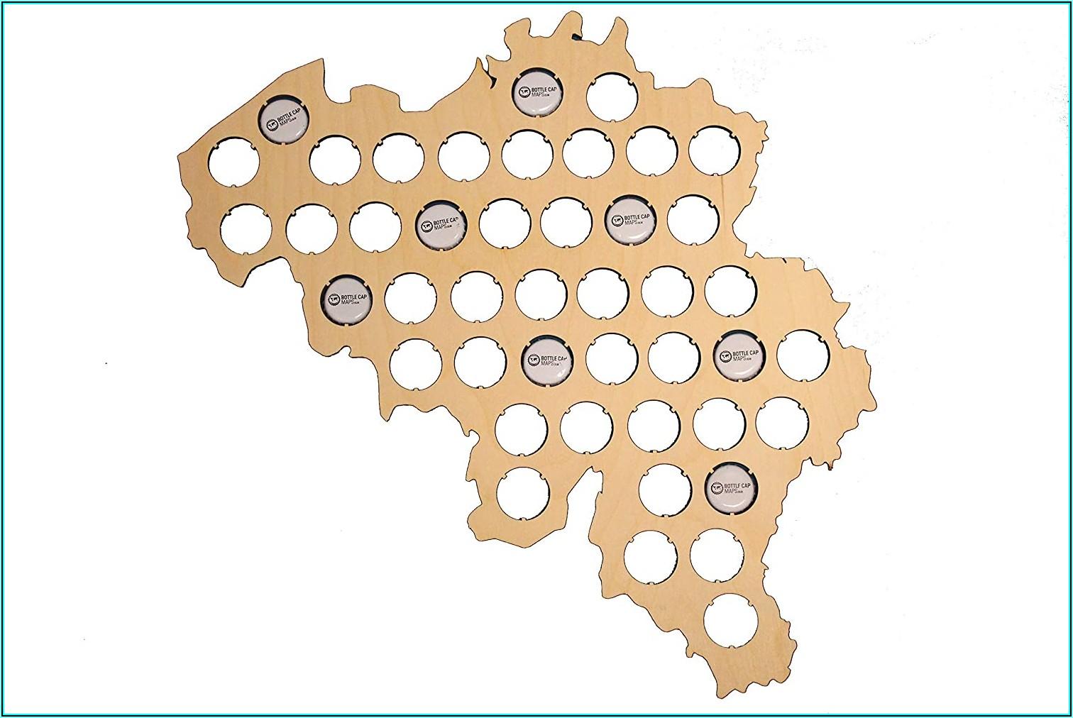 Belgian Beer Cap Map