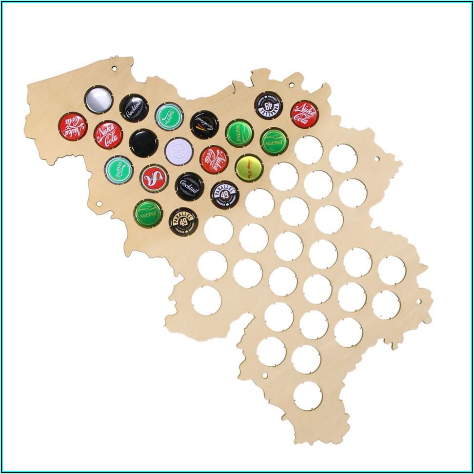 Belgium Beer Cap Map