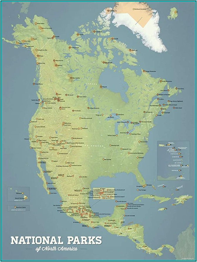 Best National Parks America Map