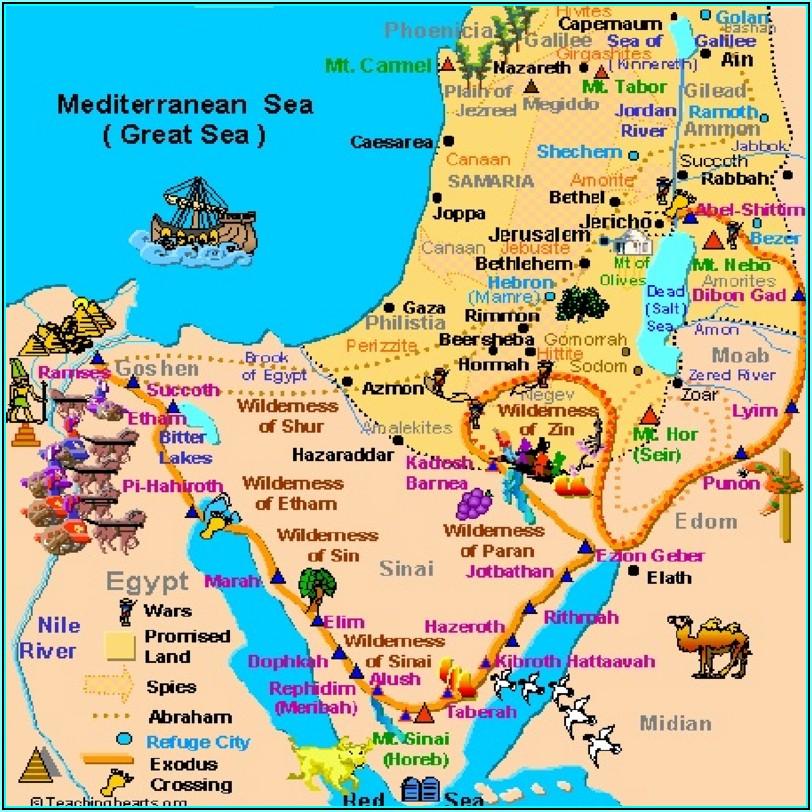 Bible Land Map