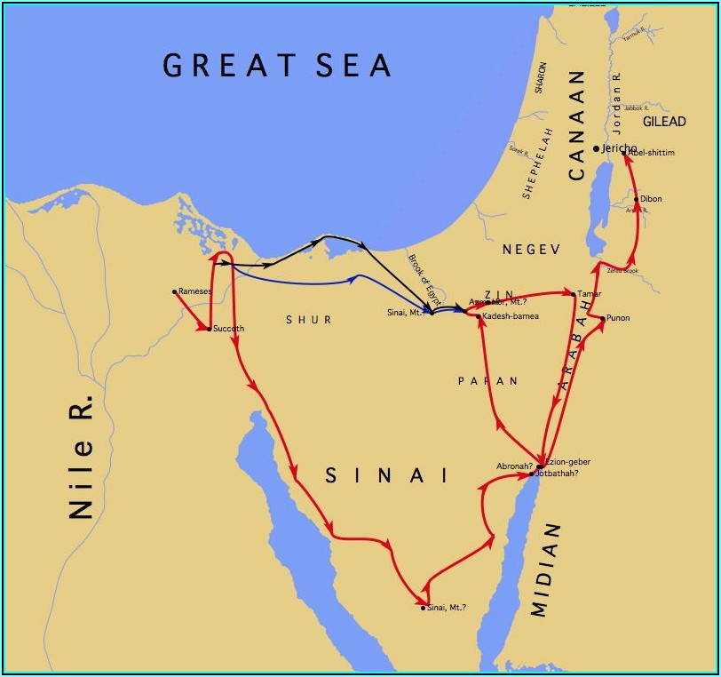 Bible Map Land Of Canaan