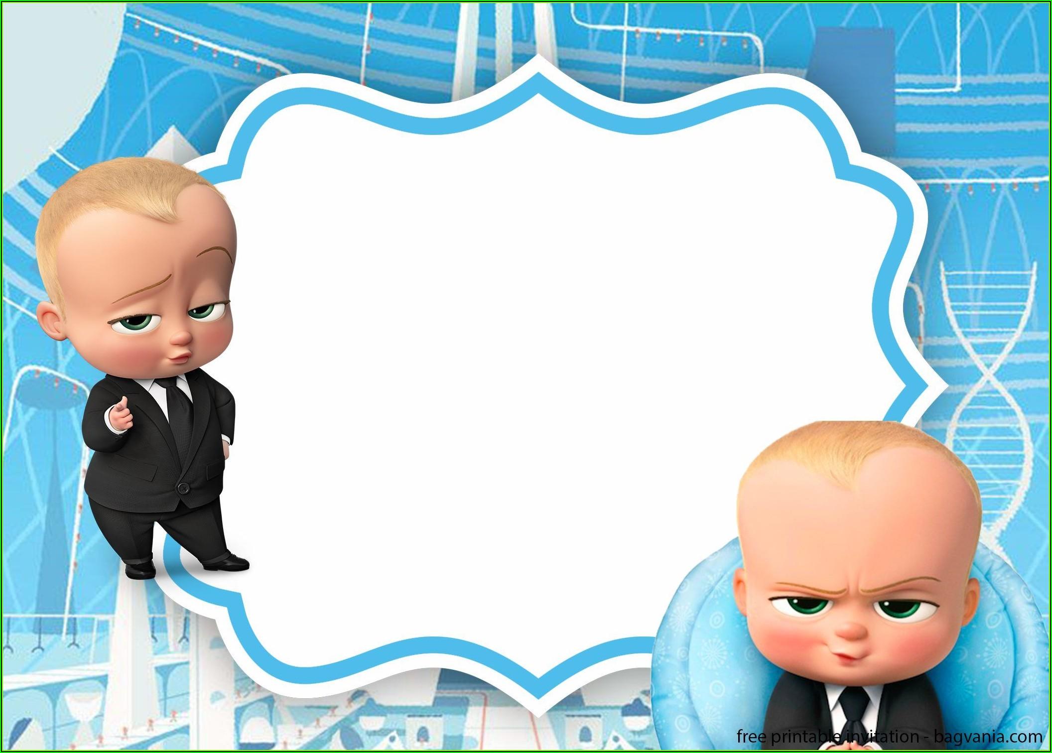 Boss Baby Girl Baby Shower Invitation Template