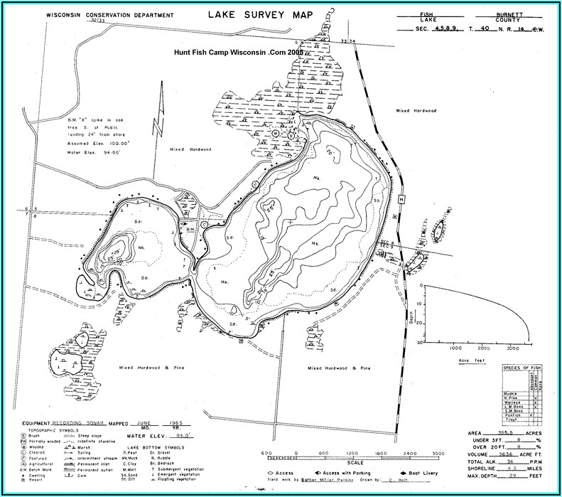 Burnett County Wi Lake Maps