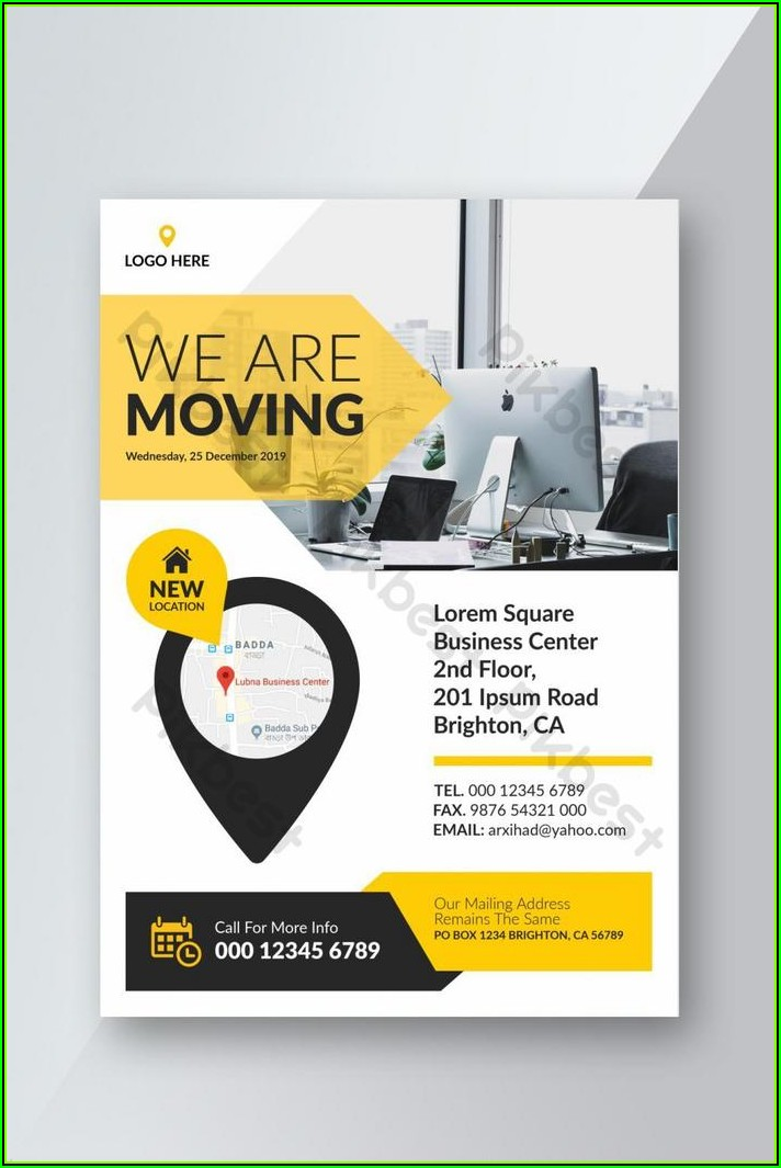 Business Moving Flyer Template Free