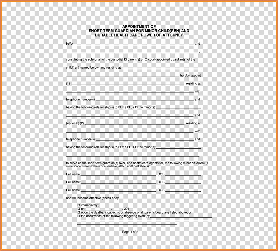 California Law Power Of Attorney Form