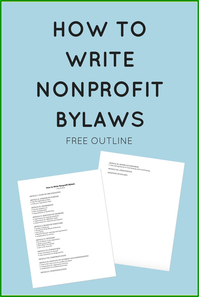 Charity Bylaws Template