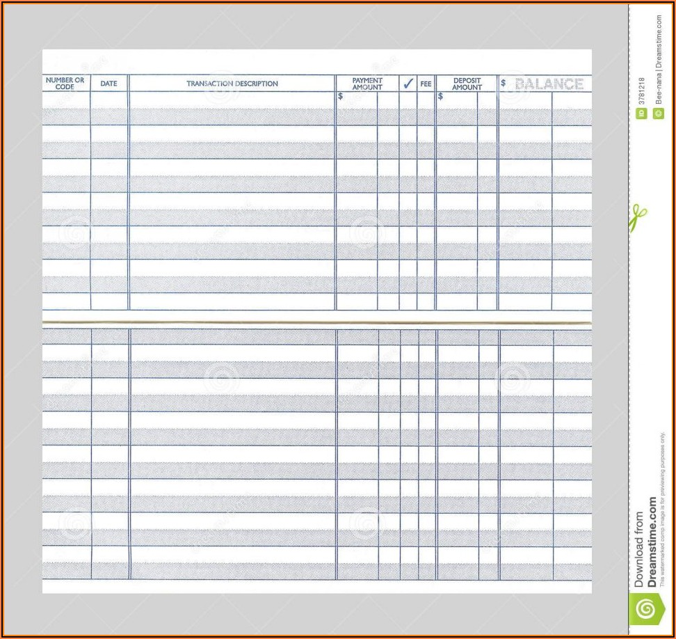Checkbook Register Forms Printable