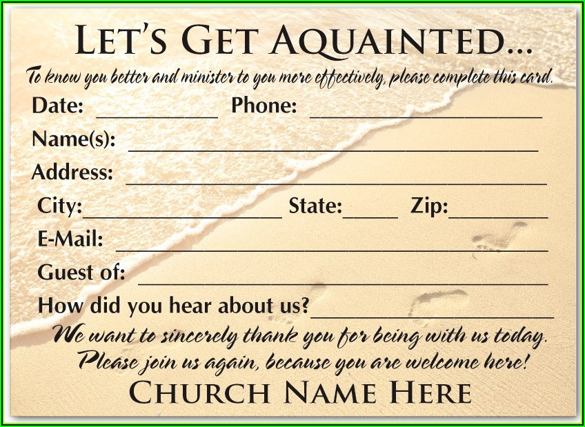Church Visitor Cards Templates