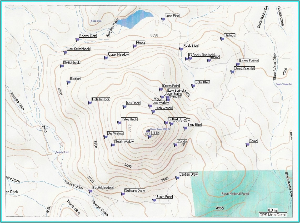 Colorado Elk Hunting Maps