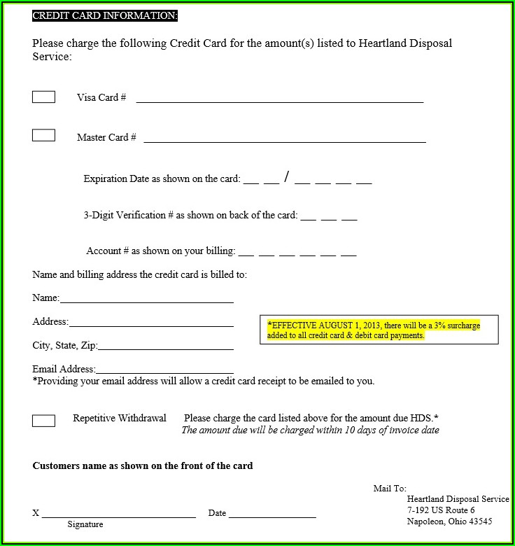 Company Issued Credit Card Policy Template