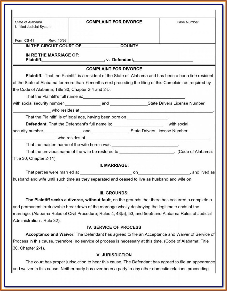 Contested Divorce Forms In Virginia