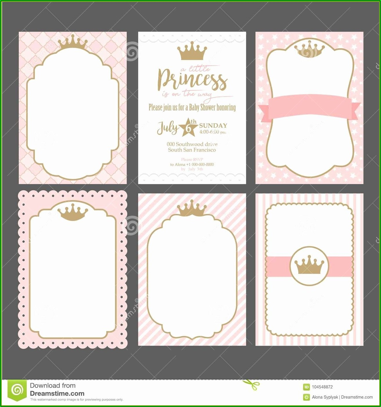 Crown Invitation Template
