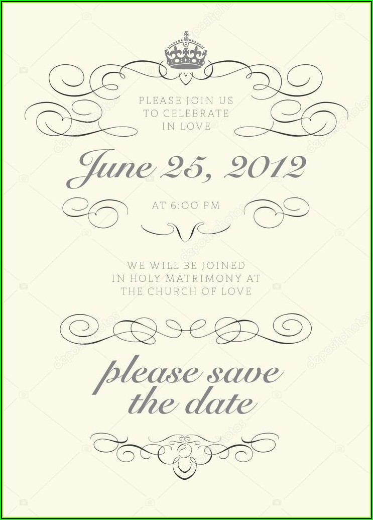 Crown Wedding Invitation Template