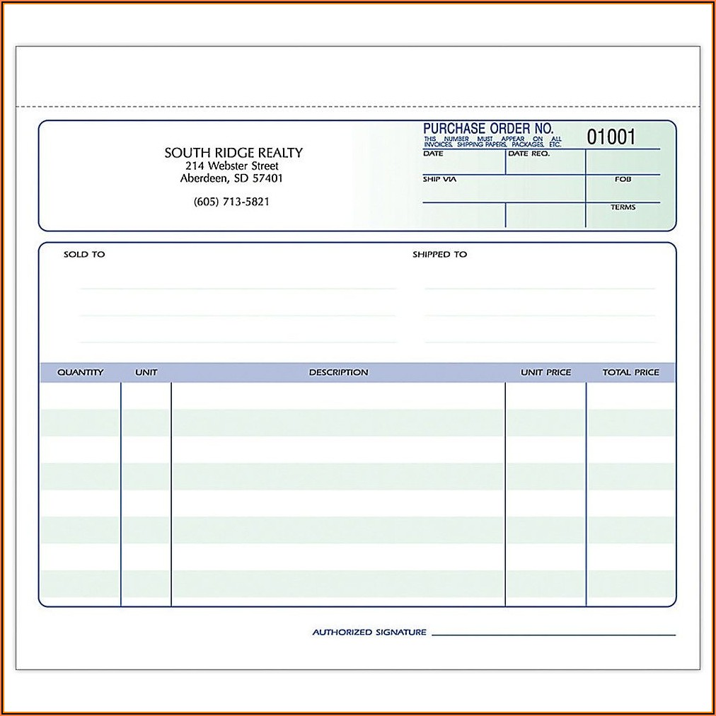 Custom Business Order Forms