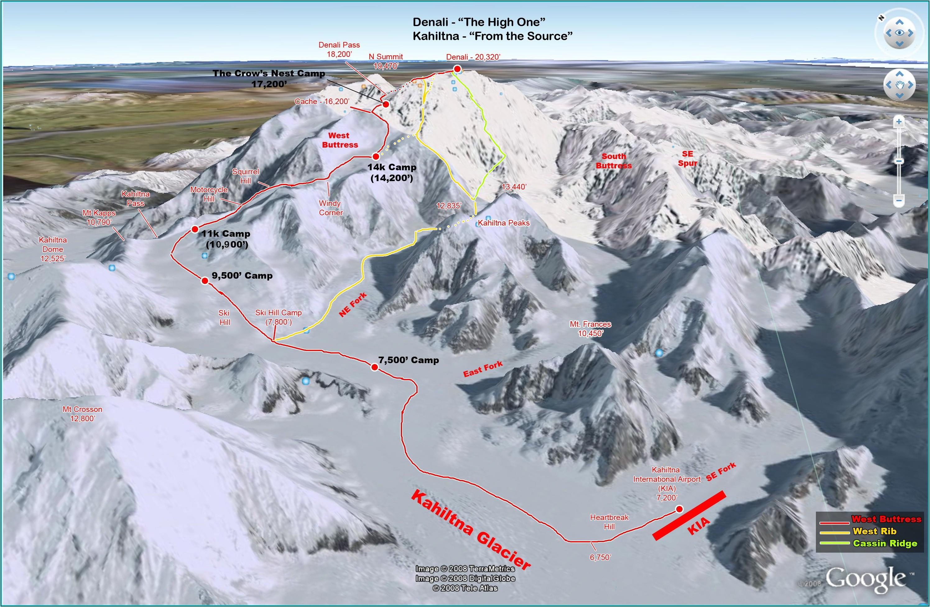 Denali Climbing Routes