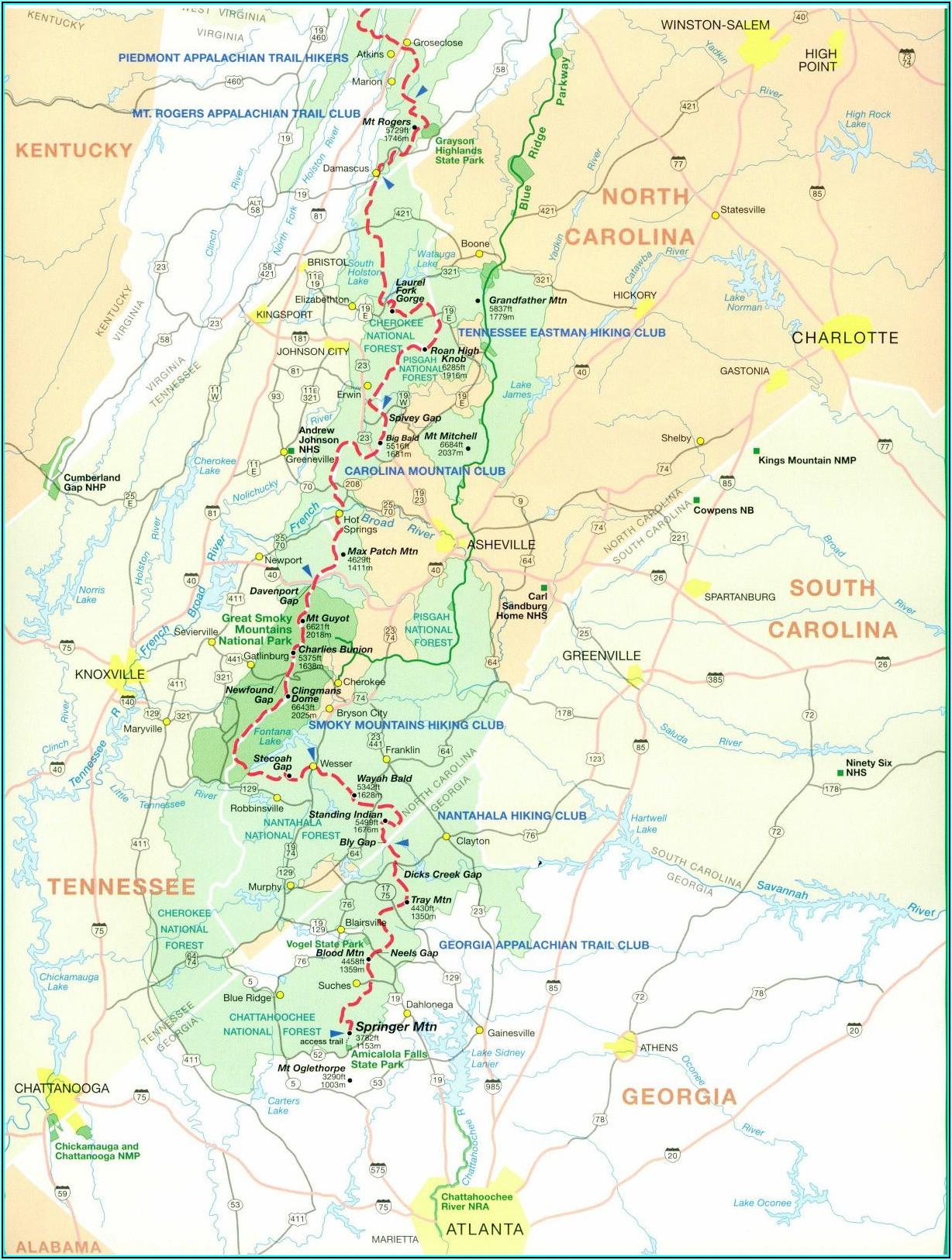 Detailed Appalachian Trail Map