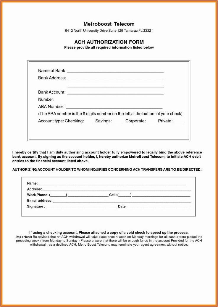 Direct Deposit Change Form Quickbooks