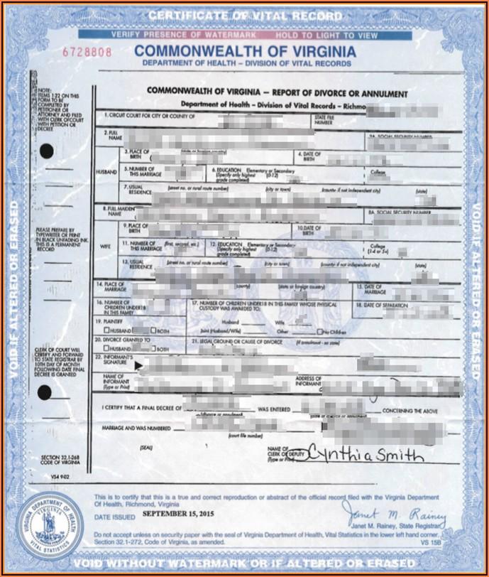 Divorce In Virginia Forms Free