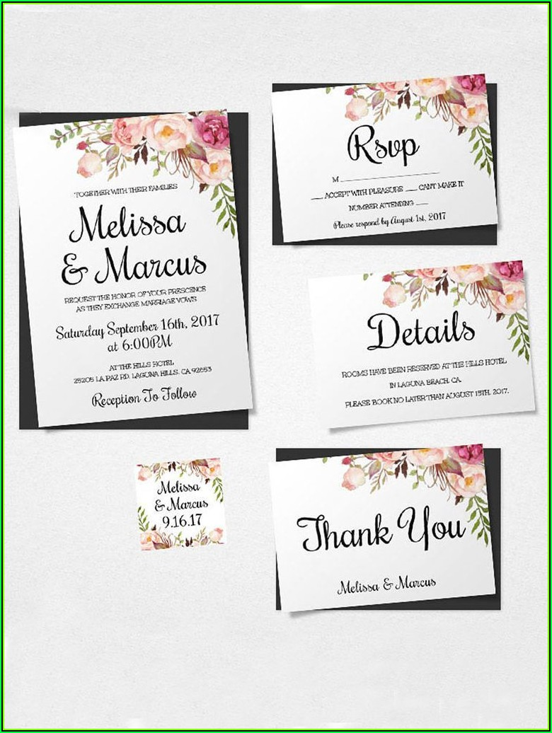 Diy Wedding Invitation Inserts Templates