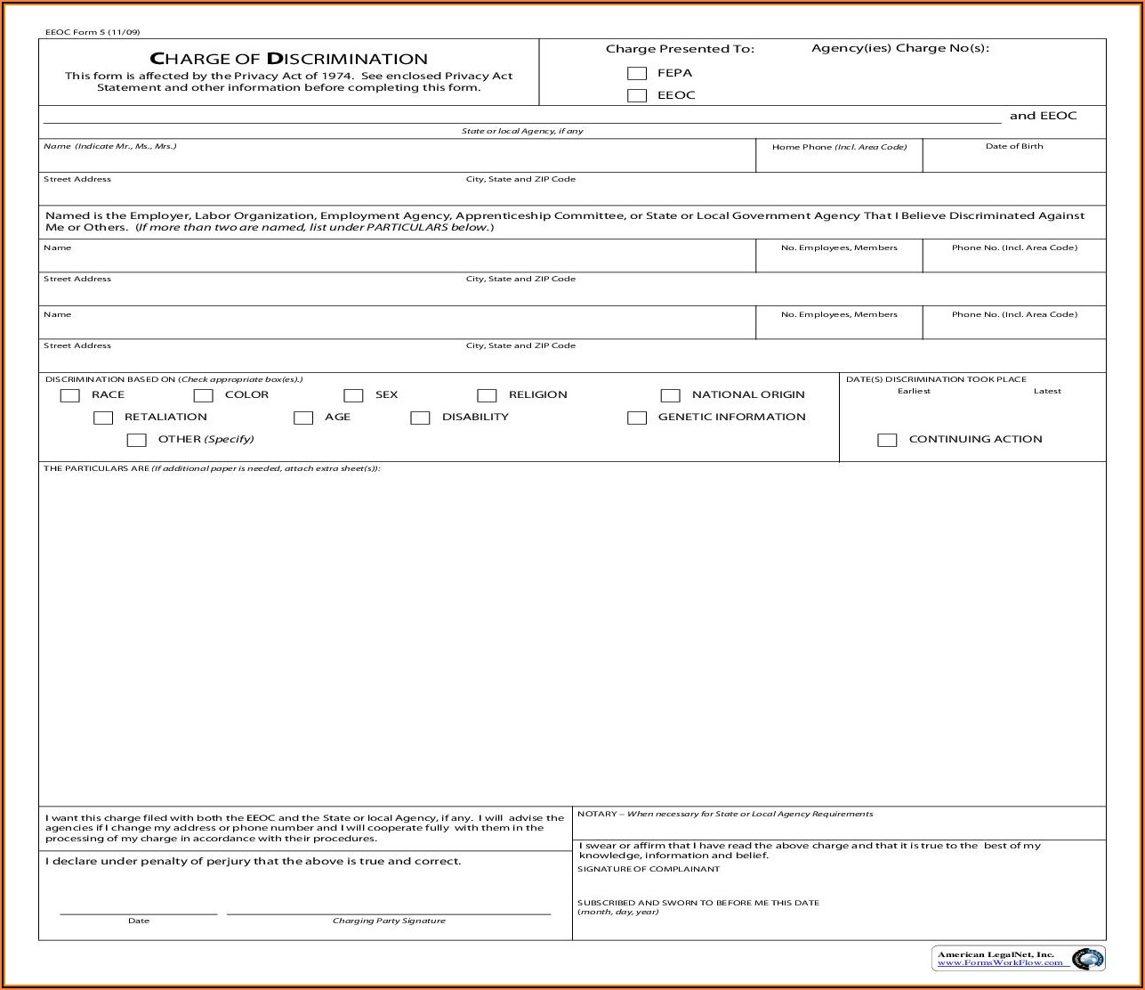 Eeoc Complaint Form Michigan