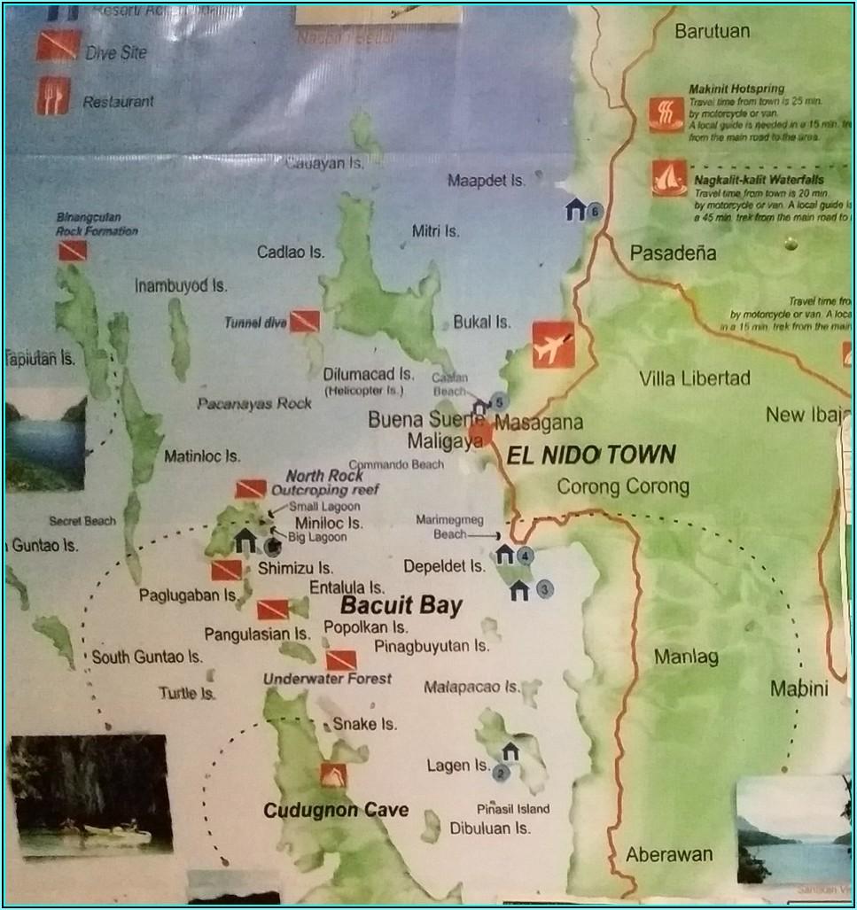 El Nido Map Hotels